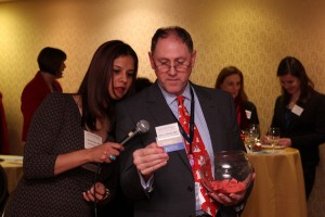 Ned Lundquist, ABC, does the raffle honors as I look on