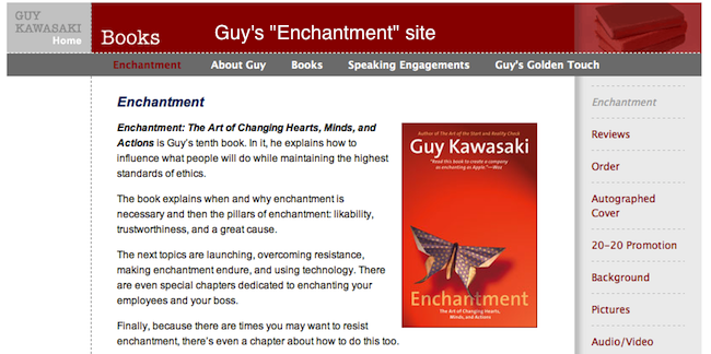 Guy Kawasaki's Enchantment site
