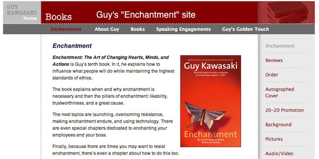 Guy Kawasaki's Enchantment site