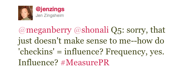 Jen Zingsheim Phillips on Klout and FourSquare