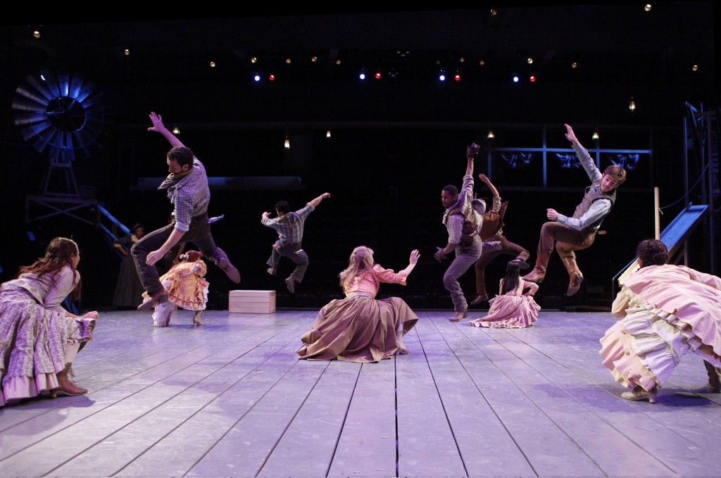 The company of the Arena Stage at the Mead Center for American Theater production of Rodgers and Hammerstein's Oklahoma! Photo by Carol Rosegg