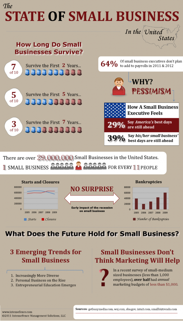 state of small business infographic by IntenseFence