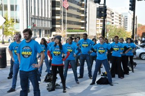 the Give to the Max flash mob