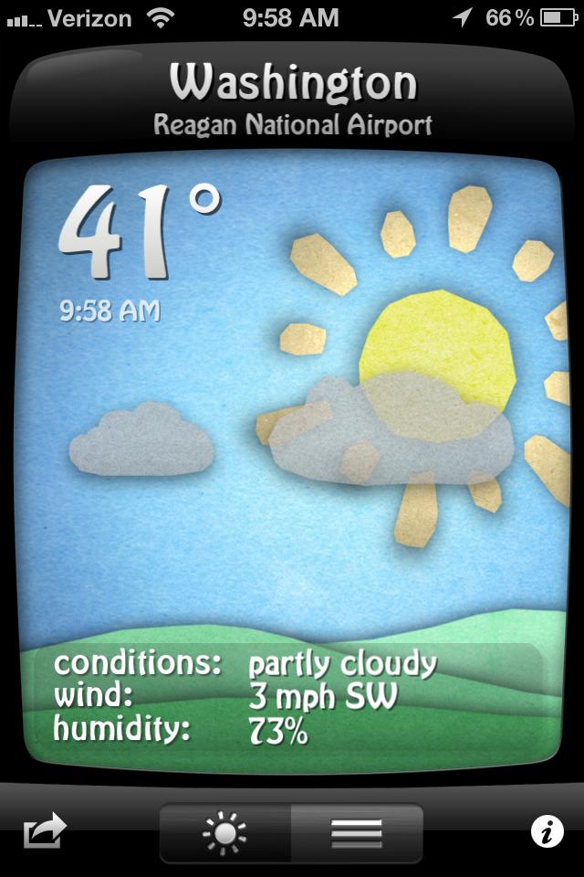 Weather Doodle iPhone app