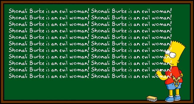Ken Mueller's Bart Simpson chalkboard generator
