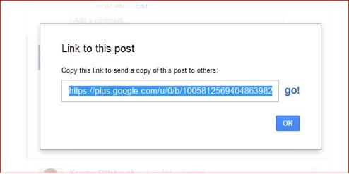 Google Plus linking capabilities