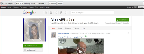 Google Plus offers translation