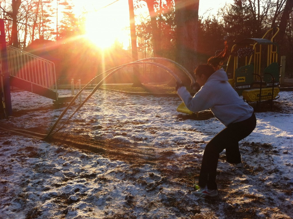 Firehose power slam in the snow
