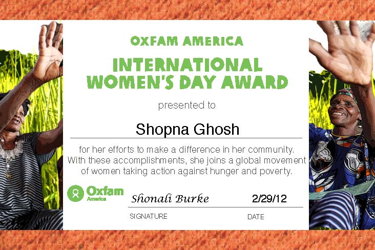 International Women's Day 2012 eAward