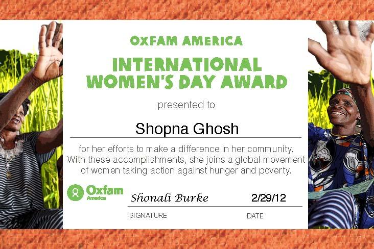 International Women's Day 2012 eAward