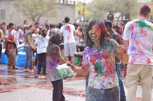 Holi being celebrated at Berkeley