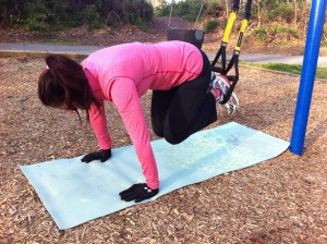 March 27 - reverse crunch using the TRX