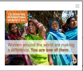 Oxfam America's International Women's Day 2012 eCard