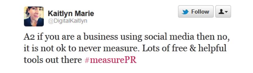 @DigitalKaitlyn on #measurePR