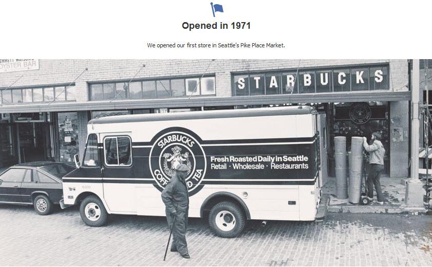 A Starbucks milestone