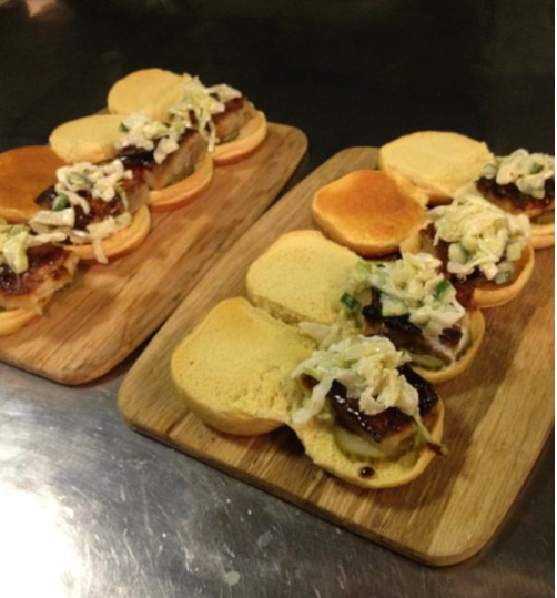 Pork belly sliders at Lowcountry