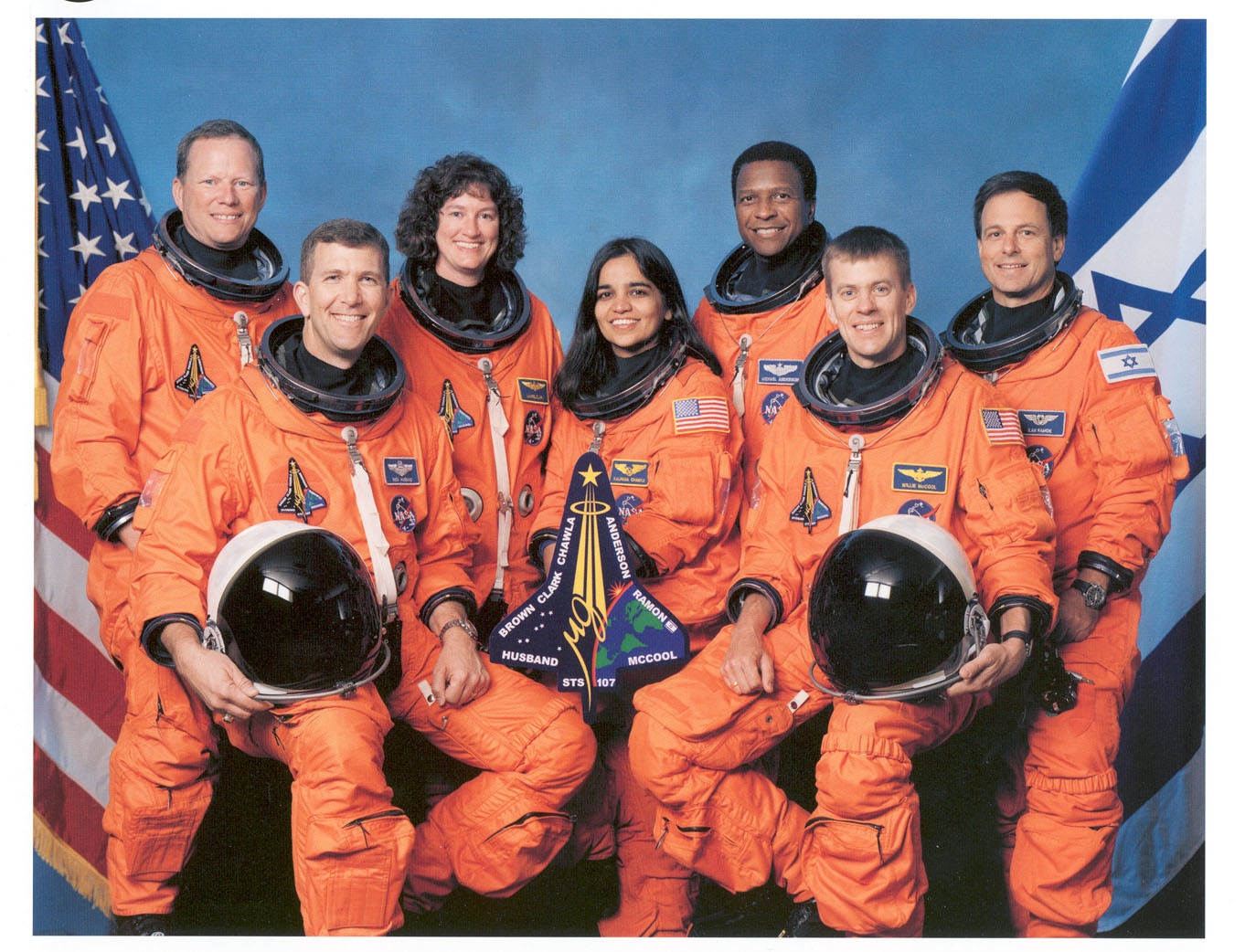 the doomed crew of the space shuttle Columbia