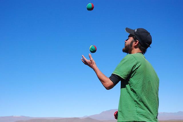 juggling one's social media presence