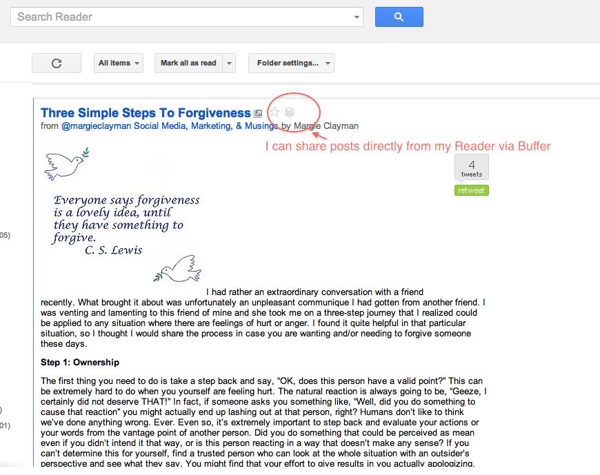Buffering from Google Reader