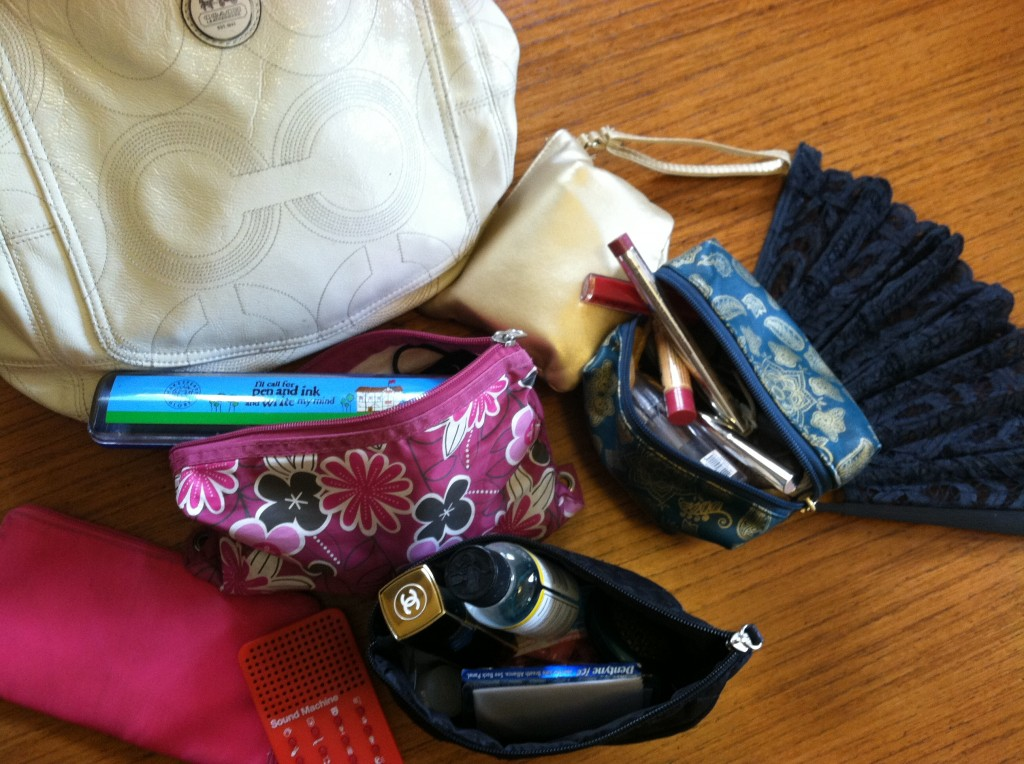 the contents of a PR pro's handbag