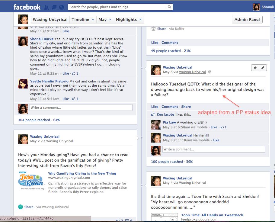 Post Planner Facebook Status Ideas