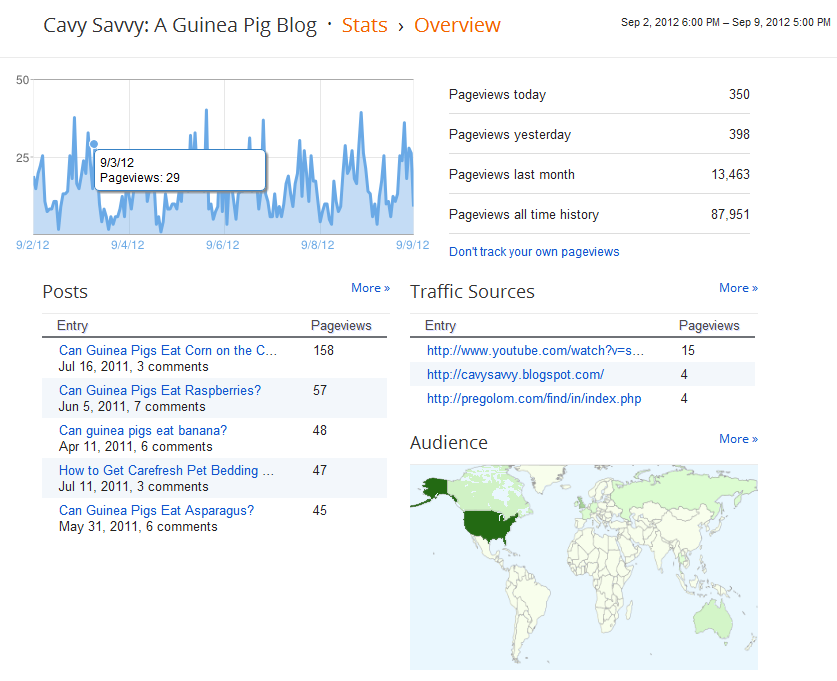Google Analytics for Cavy Savvy