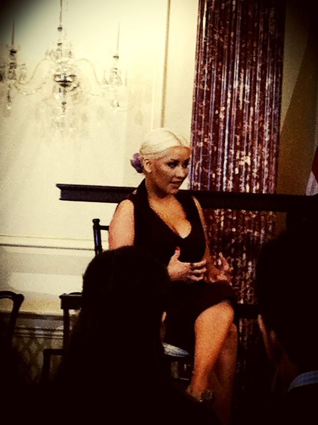 Christina Aguilera at 2012 WFP event