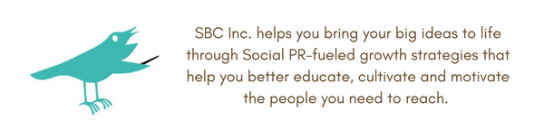 Cartoon Birdie image of how SBC helps you grow your business through Social PR