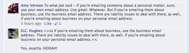 FB answer to business email address #4