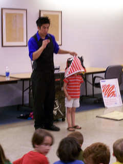 Magician misleading child