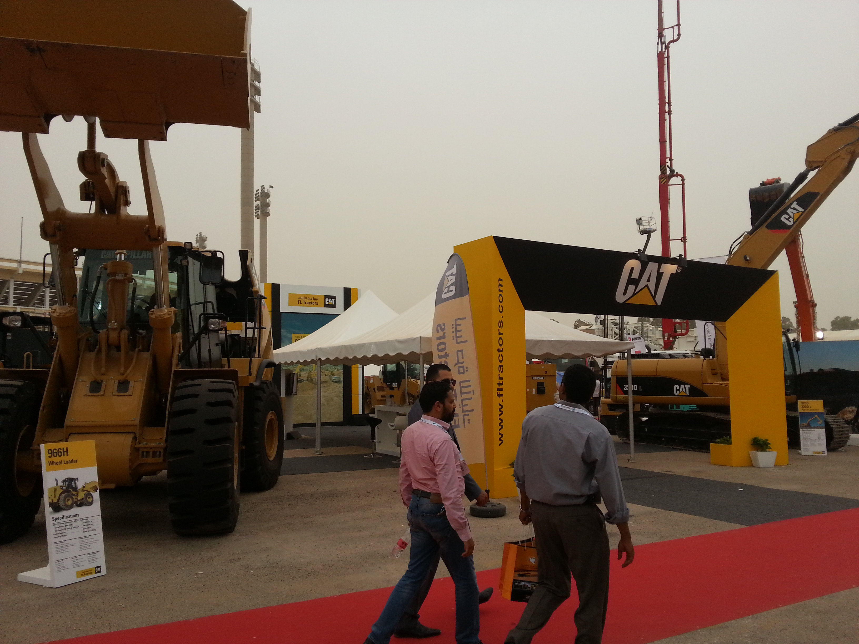 Caterpillar was one of very few US companies present at Libya Build 2013.