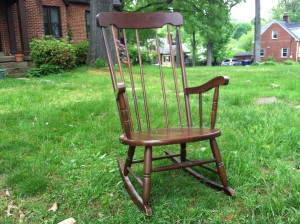 empty rocking chair