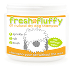 Fresh and Fluffy Natural Dry Dog Shampoo