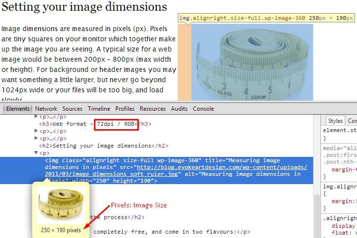Image Dimension