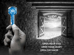 USA for UNHCR's Blue Key campaign tweetathon (Mashable)