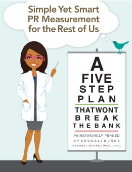 "cover for Shonali Burke's ""Simple Yet Smart Measurement"" ebook"
