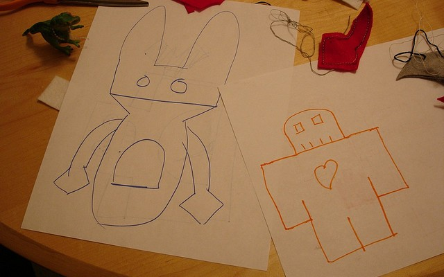 felt robot blueprints