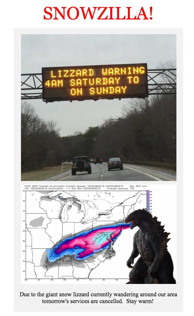 "You Had Me At ""Giant Snow Lizzard"""