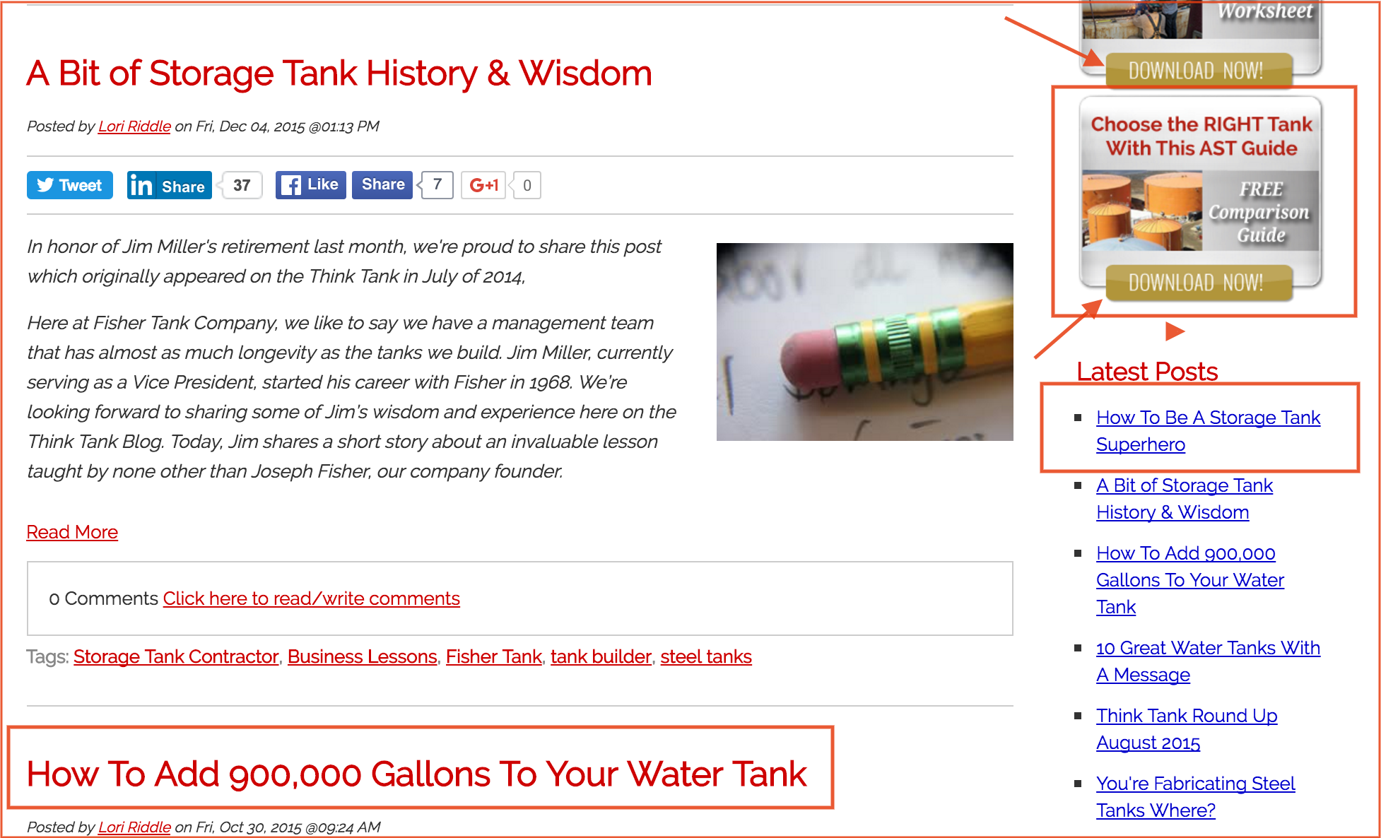Fisher Tank blog page