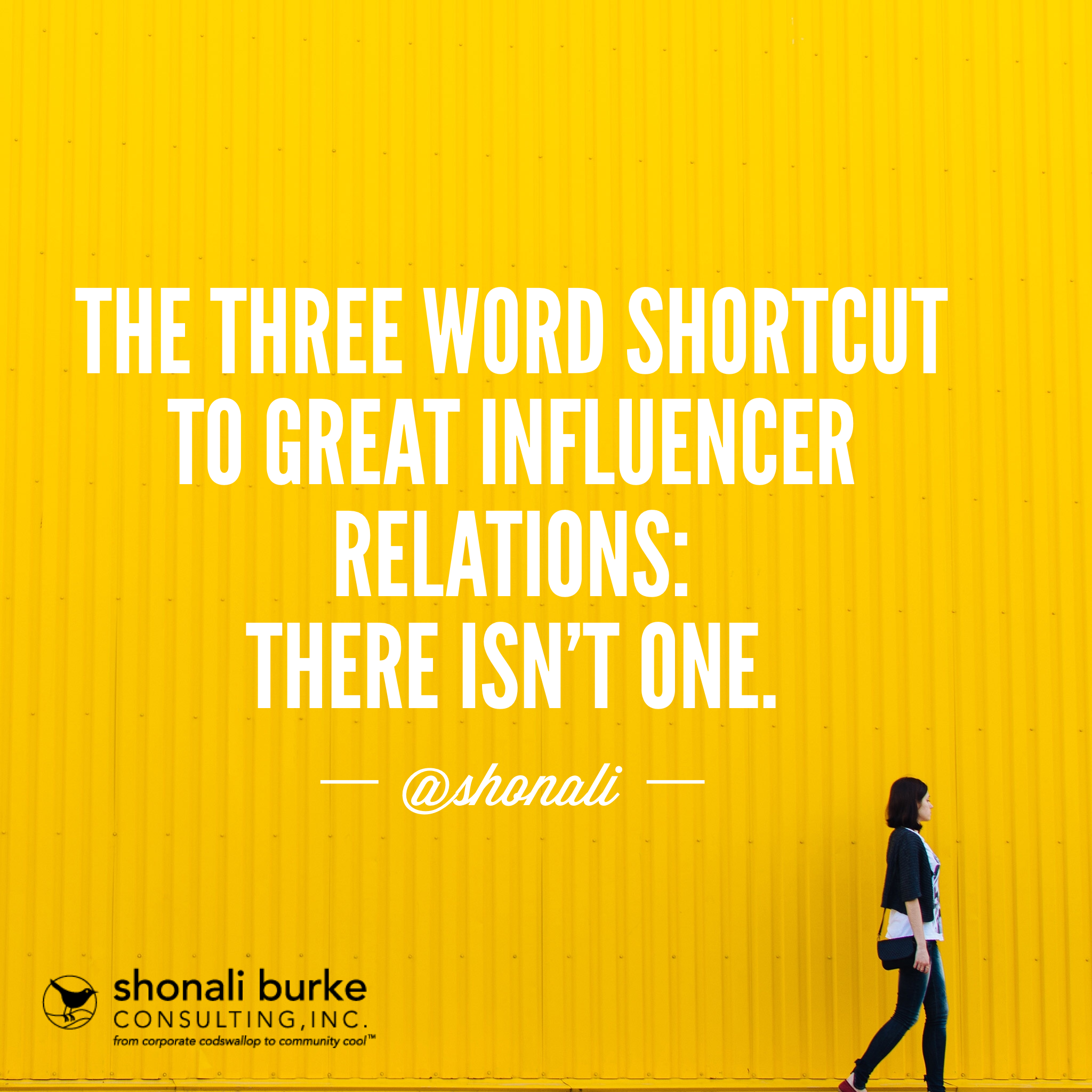 three word shortcut to influencer relations