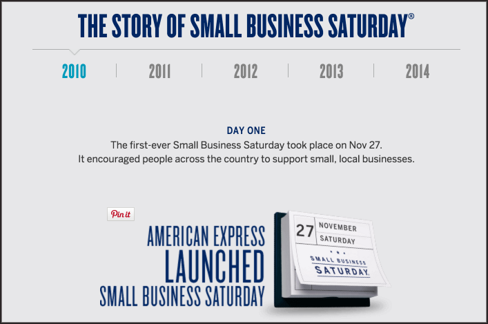 Story of Small Business Saturday (AMEX)