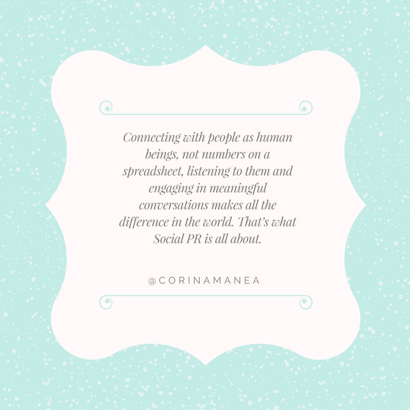 Corina Manea Quote for Social PR Spotlight