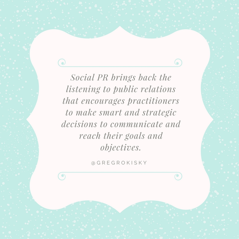 Greg R Quote for Social PR Spotlight