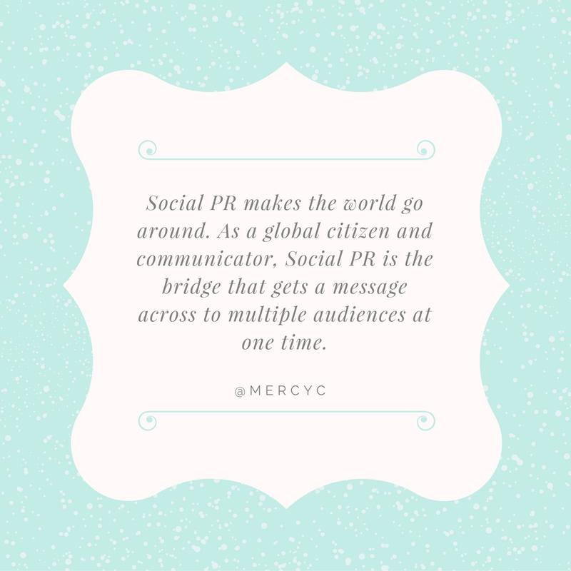 Mercy Chikowore Quote for #SocialPR Spotlight