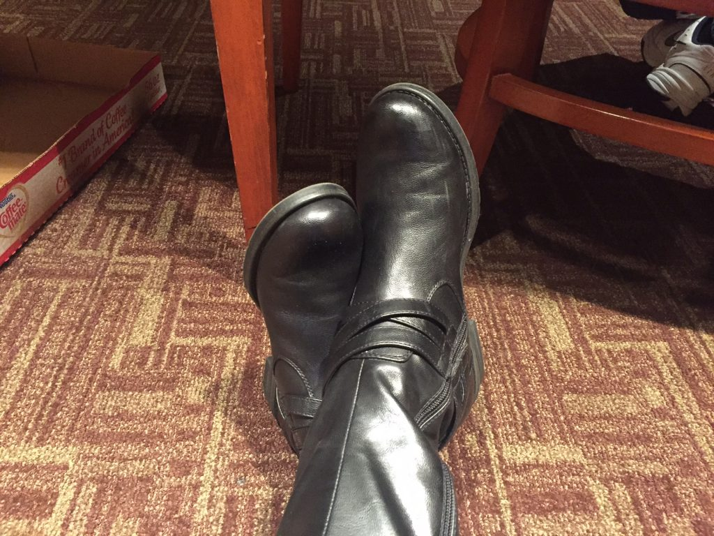 speaking boots