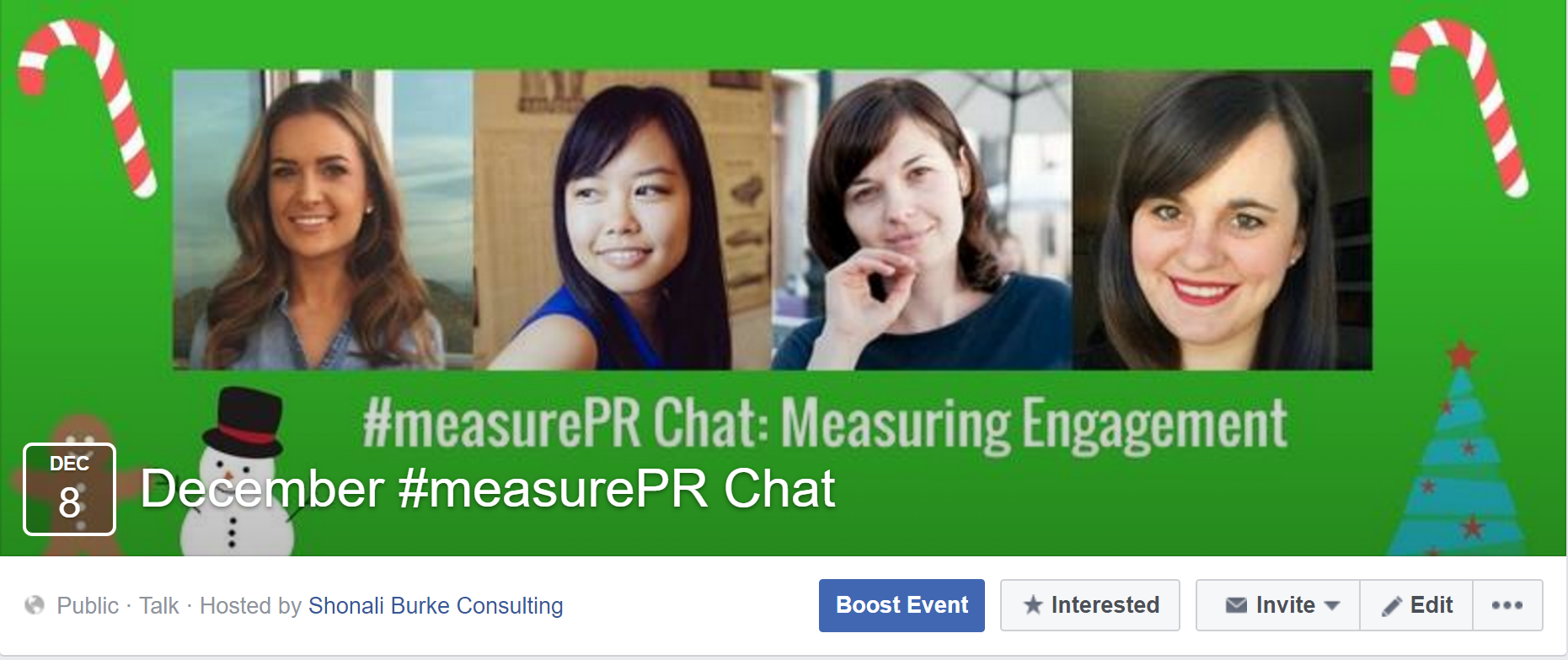 #measurePR December Facebook Event