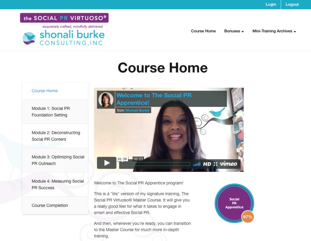 Social PR Apprentice Home Page
