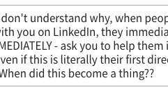 LinkedIn question