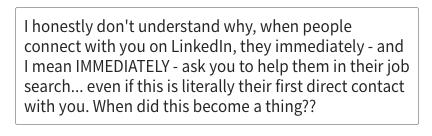 LinkedIn question