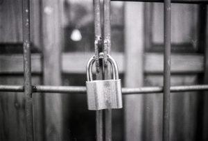 image of locked gate